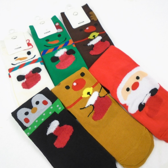 Great Quality Christmas Theme Anklet Socks  Fuzzie Stocking   .75 per pair