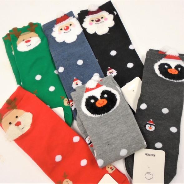 Great Quality Christmas Theme Anklet Socks  Fuzzie Beard    .75 per pair