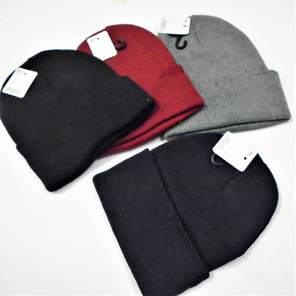 Knit Winter Beanie Caps 4 colors   .62 each