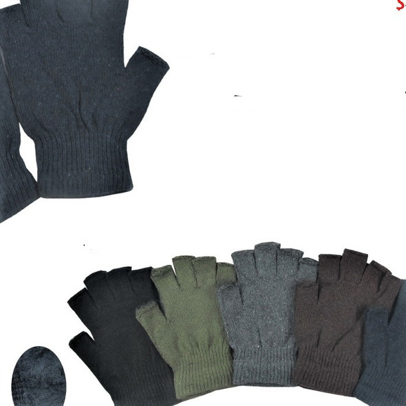 Winter Color  One Size Knit Fingerless Magic Gloves 12 pair pk .60 ea pair