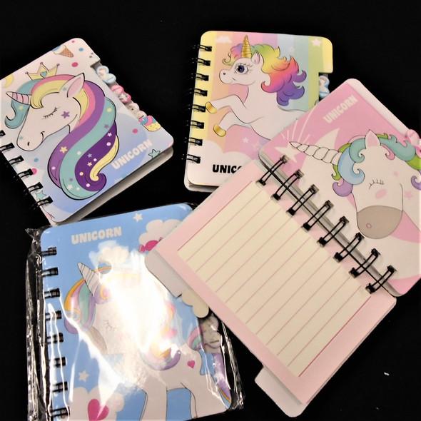 "3.5"" X 4.75""  Hard Cover Diary Unicorn Theme 12  per pk .60 ea"
