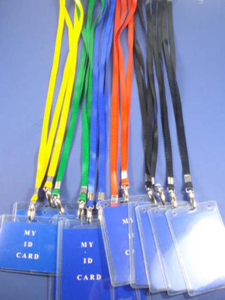 "34"" ID Necklace w/ Badge Holder Asst Colors .54 EACH"