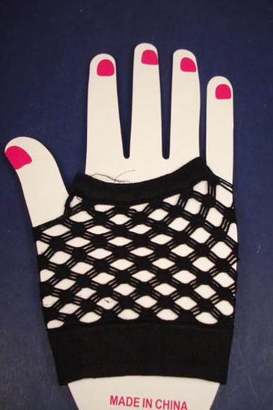 Fish Net Club Gloves All Black  NOW .45 per pair