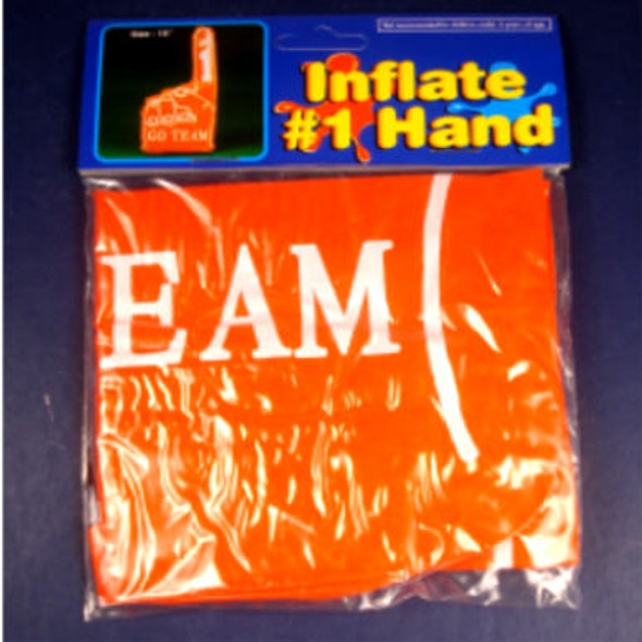 "18"" Inflateable Go Team Hand  Orange 12 per pack  .25 ea"