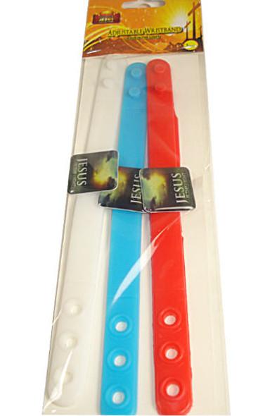 3 Pack Jesus is the Light  Adj. Wristband 24-3 pks per pk .10 per bracelet
