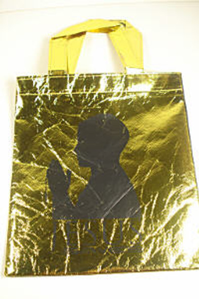 Tote Bag w/ Handle Jesus Saves Gold