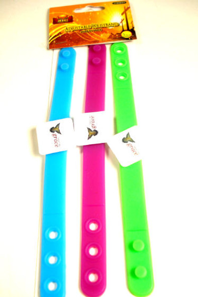 3 Pack Saved by Grace Adj. Wristband 24-3 pks per pk  .33 ea pk