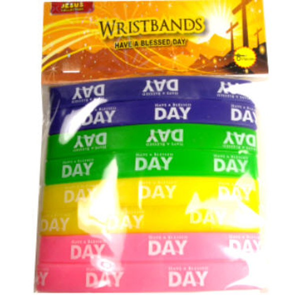 Have a Blessed Day Wristbands 192 pcs per pk only .06 each