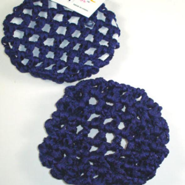 All Navy Blue Crochet Bun Cover .33 ea