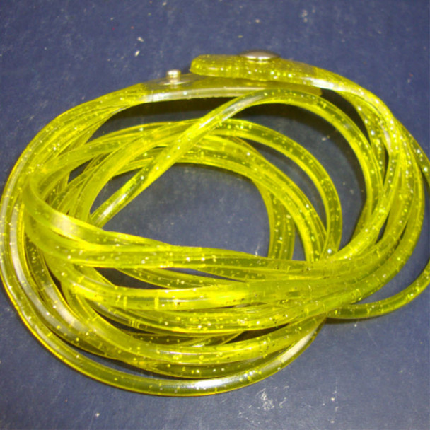 Jelly Type DBL Wrap Around Glitter Bracelet Yellow 12 per pk .50