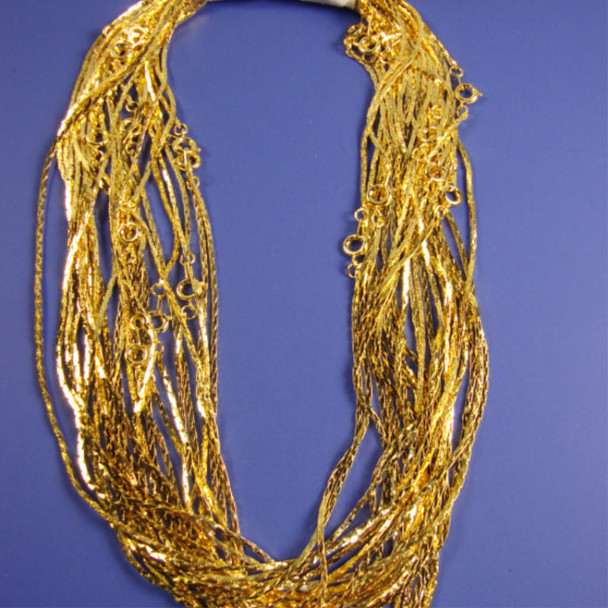 "16"" Square Style Gold Fashion Chain 24 per pack"