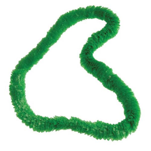 """34"""" Solid Color Plastic Hawaiian Leis Green 12 per pack .15 ea"""