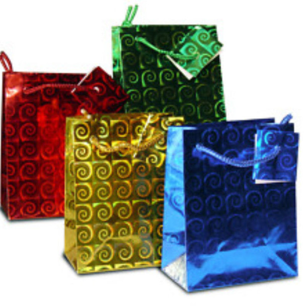 """Mini Size Hologram Gift Bags 3"""" X 4"""" Mixed Colors .20 EACH"""