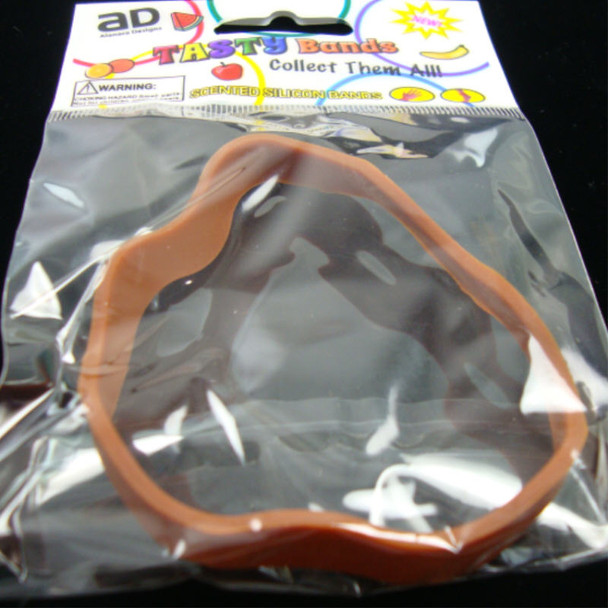 Tasty Silicone Bands Stackable & Scented Novelty Wavy Bands Brown sold by dz
