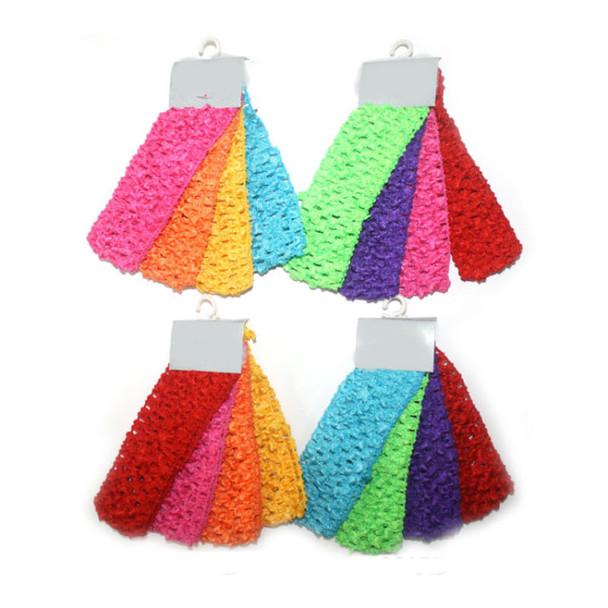 "4 Pk Asst Bright Color 1.5"" Crochet Headwraps 12-4pks per bag"