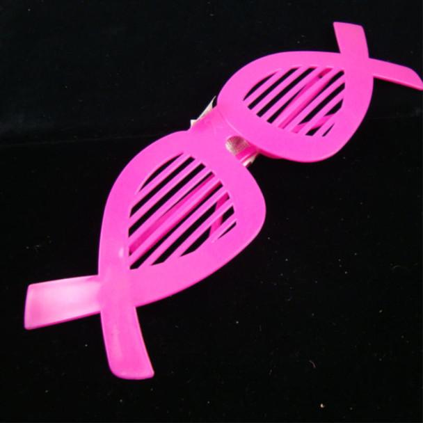 Pink Ribbon Shutter Shading Novelty Glasses 12 per pk .12 each