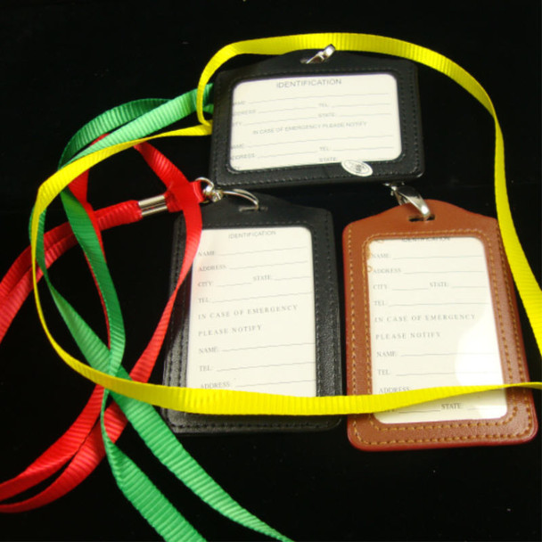Colorful Lanyard Necklace w/ ID Badge Holder Asst Color .56 each