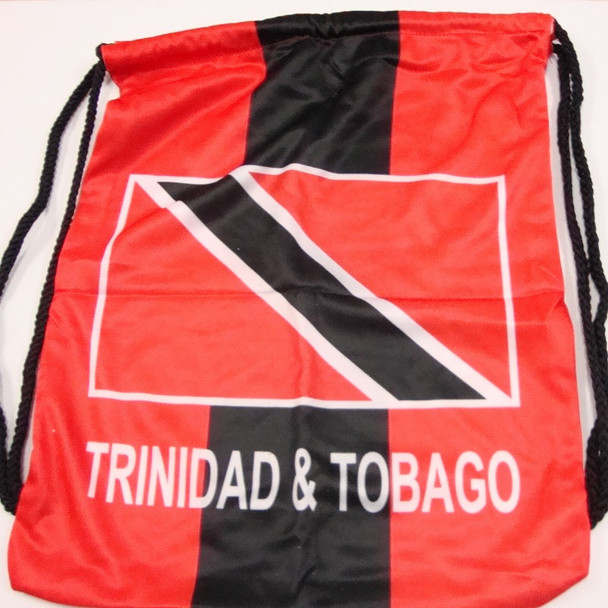 """SPECIAL 12"""" X 17"""" Trinidad Theme Pull String Back Pack $ 3.00 ea NOW $ 1.50"""