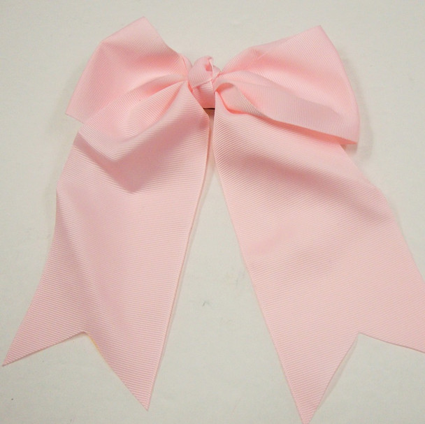 """6"""" X 8"""" All Lite Pink  Gator Clip Bow w/ Tails .54 ea"""