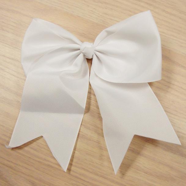 """6"""" X 8"""" All Bright White Color Gator Clip Bow w/ Tails .54 ea"""