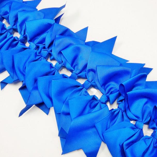 "6"" X 8"" All Royal Blue Gator Clip Bow w/ Tails .54 ea"