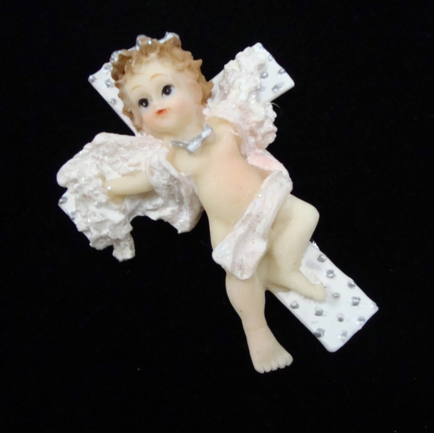 """3"""" Poly Resin Angel Magnets on Cross 10 pc per sale @ .50 ea"""