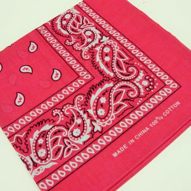 """20"""" Square 100% Cotton Bandana Fusia Color .60 ea"""