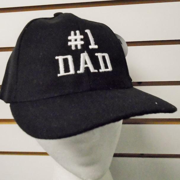 #1 Dad Embroidered Baseball Caps BLACK 12 per pk $ 3.00 each