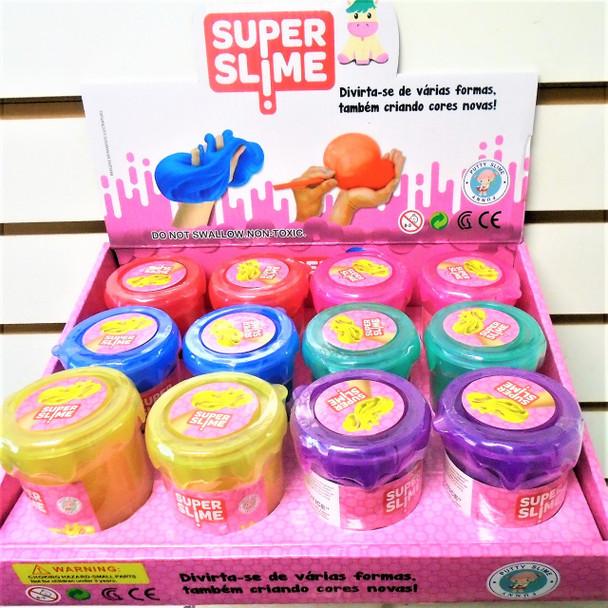 "NEW ! 2"" X 3"" Super Slime Asst Colors 12 per display box .83 each"
