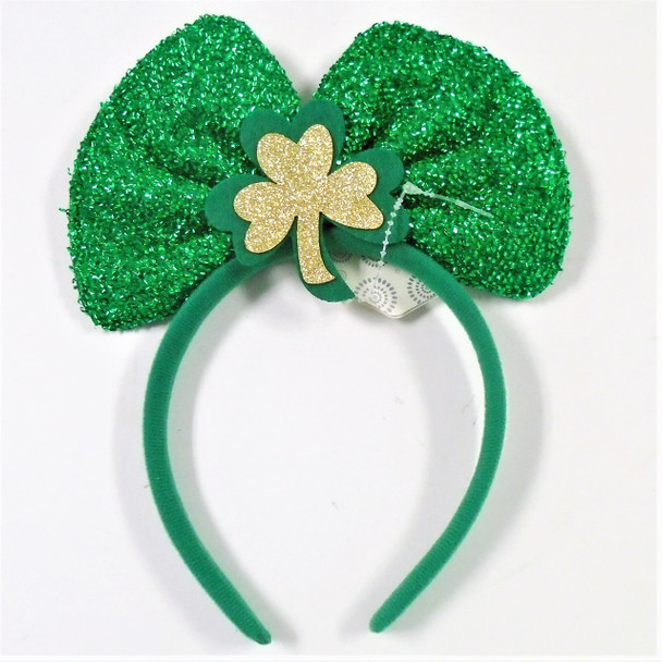 St. Patrick's Day Novelty Headbands Sparkle Bow 12 per pk .62 ea