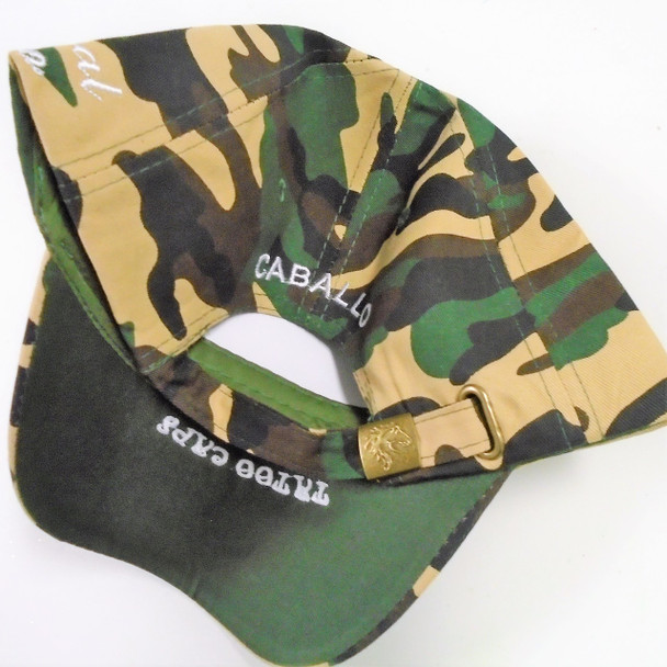 Best Quality Camo Print Baseball Cap w/ DBL Horse sold by pc $ 3.00 each