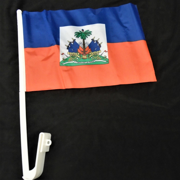 Haiti Country Car Flags 12 per pk 12 per pack  .55 each