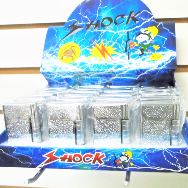 Silver Novelty Shocking Lighters  24 per bx $ 1.40 each