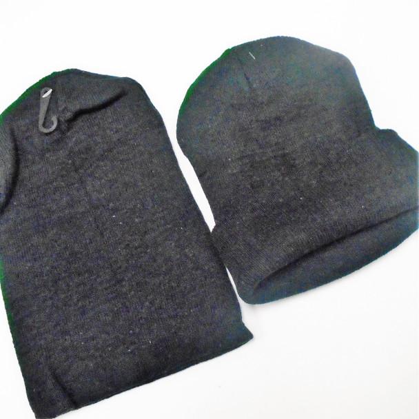 All Black Knit Beanie Caps Adult Size (60162)  12 per pk .65 ea