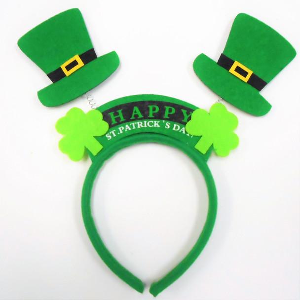 Happy  St. Patrick's Day Novelty Headbands 12 per pk .65 ea