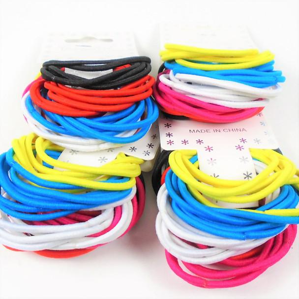 36 Pk Asst Color  Elastic Stretch Ponytailers   .54 per set