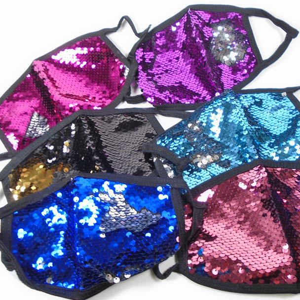 IN STOCK Sequin Fashion Protective Face Mask asst colors  $ .99 each