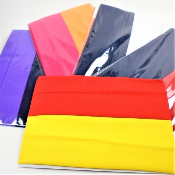"2"" Asst Bright Color Stretch Headbands 24 per pk   .25 each"