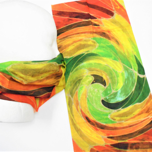 Multifunction Face Mask Scarf Multi Color Swirl (60192A)  12 per pk .75 each