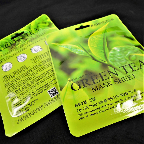 Green Tea  Face Mask  (Korea Made) 5 per pk Only .55 each mask