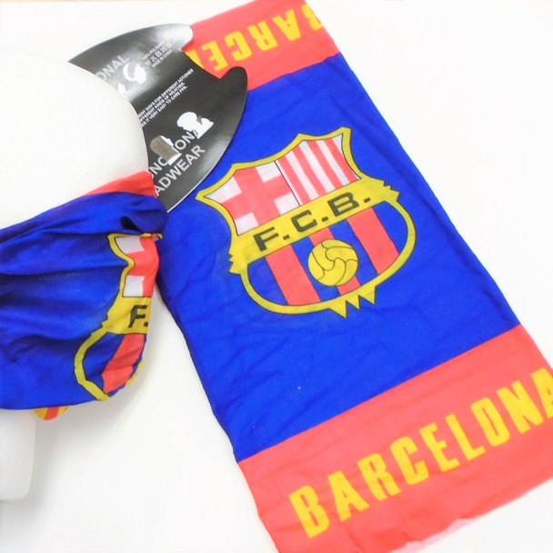 Carded Multifunctional Scarf/Headwear/ Mask Barcelona Theme   .66  ea