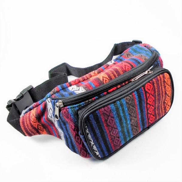 "BEST QUALITY 5"" X 12"" 2 Zipper Baja Theme Waist Bags Mixed Colors 12 per pk  $ 3.00 each"
