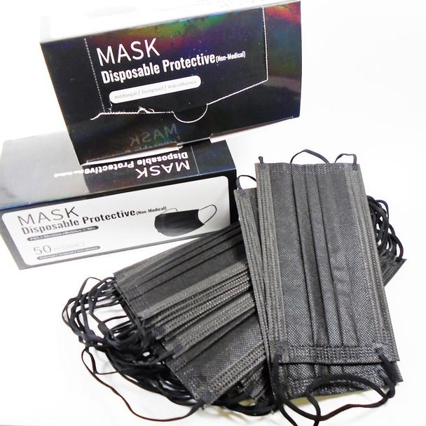 MOST POPULAR Black  Color Disposable Face Mask  50 pcs per pack  .09 each