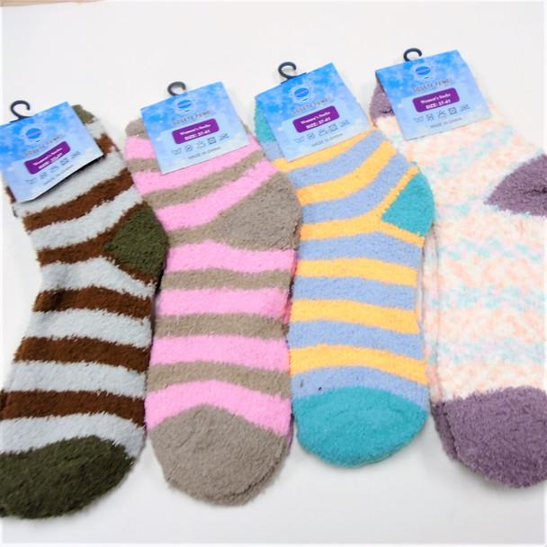 Thick ,Soft & Comfy COZY Socks Mix Color  Stripe  .65 per pair