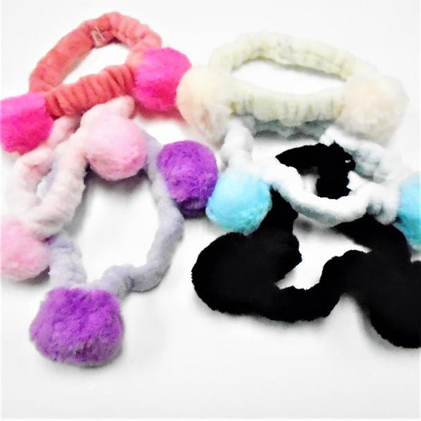 Trending  SPA Stretch Headband w/ Pom Pom's  .58 each