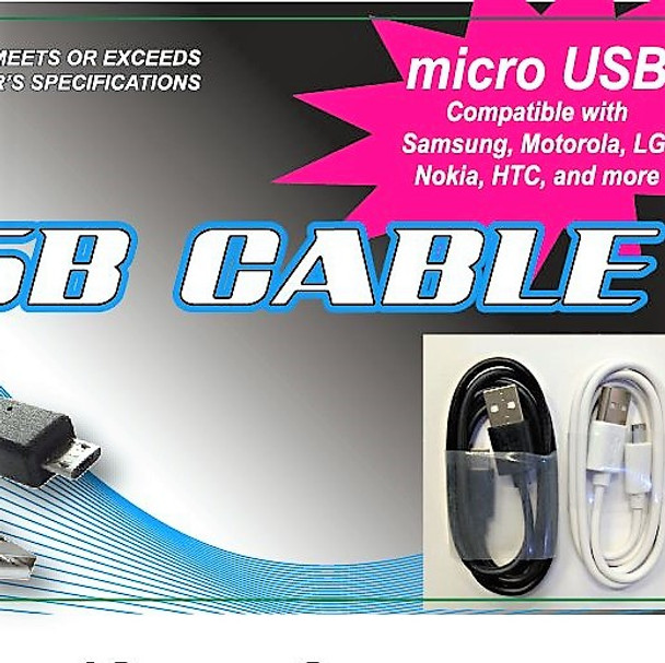 SPECIAL 10 FT USB Cable Micro 12 per can display $ 1.50 each