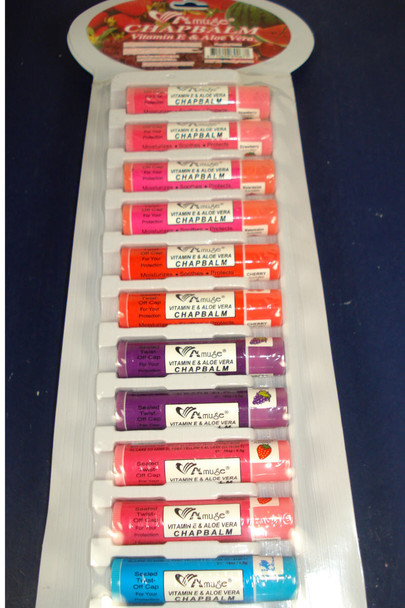Roll On Lip Chap Balm 24 per display .45 each