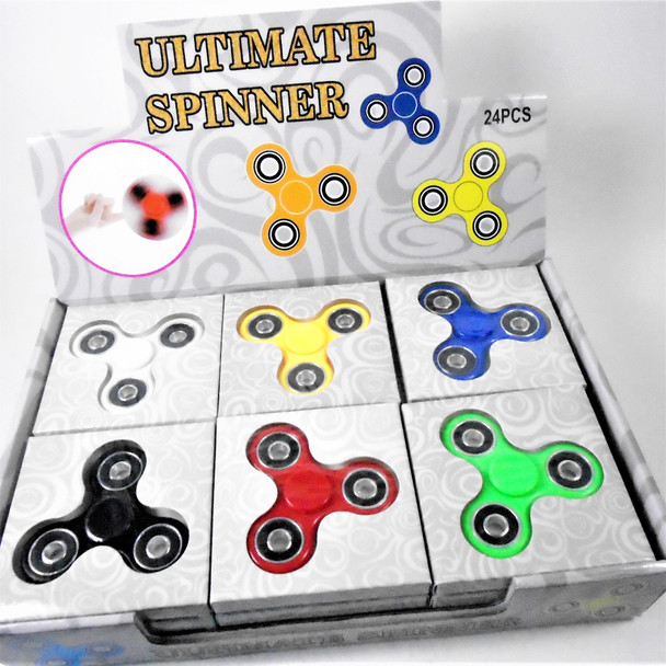 """""""Best Quality 3"""" Fidget Spinners Mixed Colors 24 per display bx .50 each"""