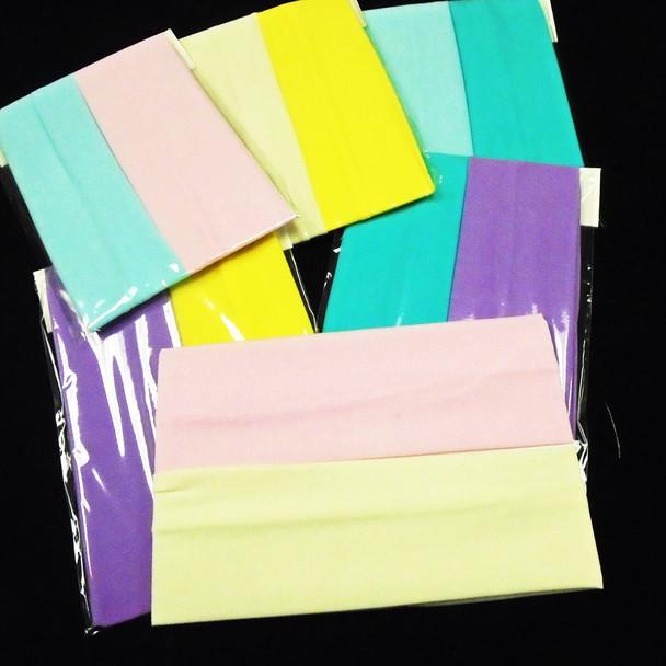 """2 Pack 2.5"""" Stretch Headbands Mixed Pastel Colors .58 per set"""