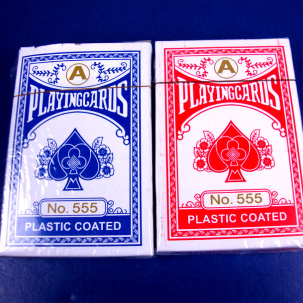 Plastic Coated Playing Cards Red/Blue .62 ea deck
